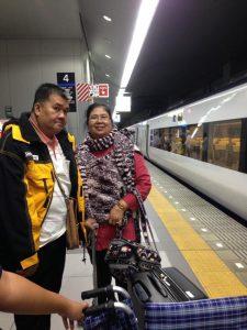 รถไฟฟ้าจากสนามบินคันไซไปเกียวโต